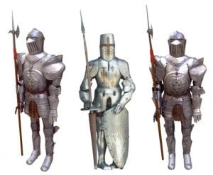 Armadura caballeros templarios