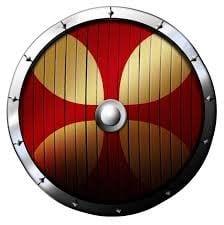 Escudos de templarios redondo